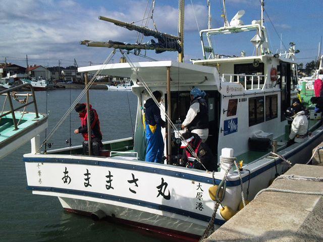 2014.01.13 [初釣り]ワカメ会仕立て@大原港あままさ丸